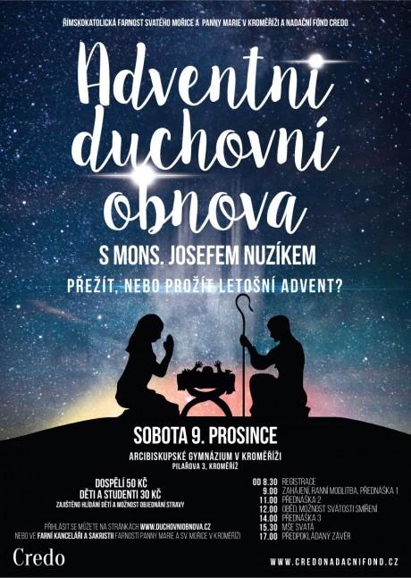 Adventni duchovni obnova v Kromerizi - Plakat